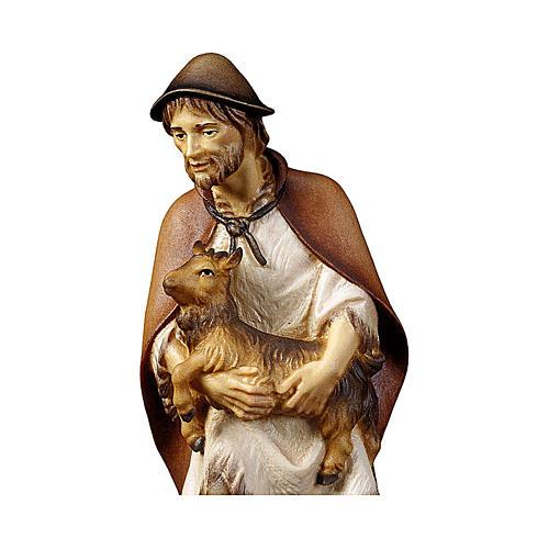Pastore con capretta presepe Original legno dipinto Valgardena 12 cm 2
