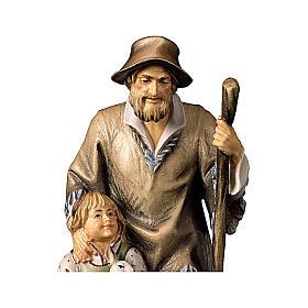 Pastore con bambina presepe Original legno dipinto Valgardena 12 cm s2