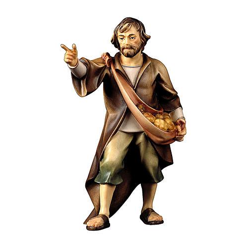 Pastore indicante presepe Original legno dipinto Valgardena 10 cm 1