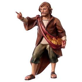 Belén Val Gardena: Pastor que señala belén Original madera pintada Val Gardena 12 cm de altura media