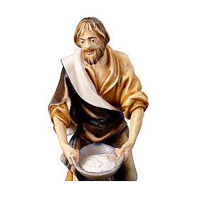 Pastore con sale presepe Original legno dipinto Valgardena 10 cm s2