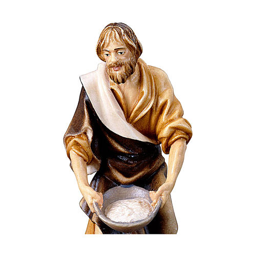 Pastore con sale presepe Original legno dipinto Valgardena 12 cm 2