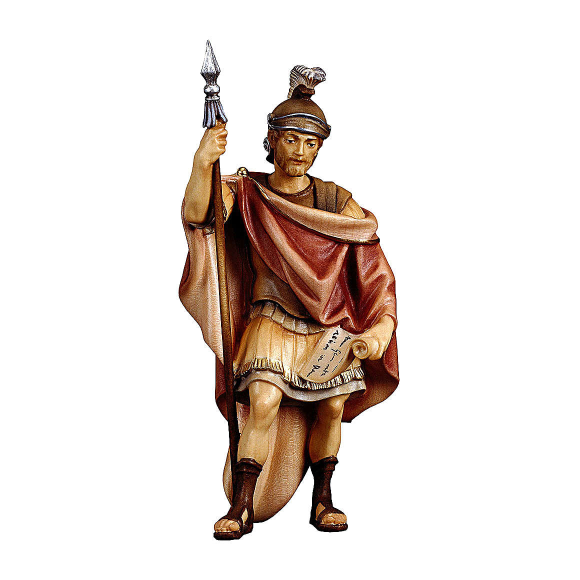 Soldato romano presepe Original legno dipinto Valgardena 12 cm 4