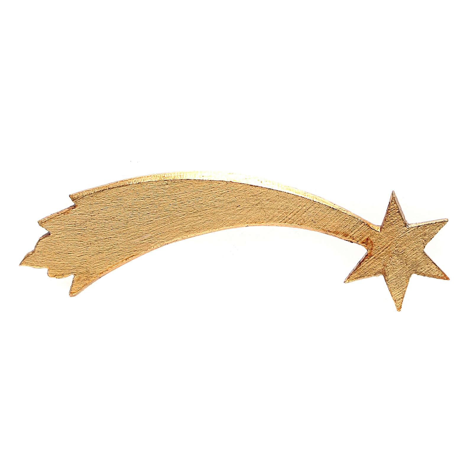 Cometa madeira pintada para Presépio Original Val Gardena com figuras de altura média 12 cm 4