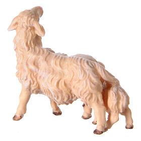 Pecora con agnello presepe Original legno dipinto Valgardena 10 cm s3