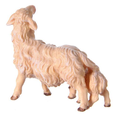 Pecora con agnello presepe Original legno dipinto Valgardena 10 cm 3