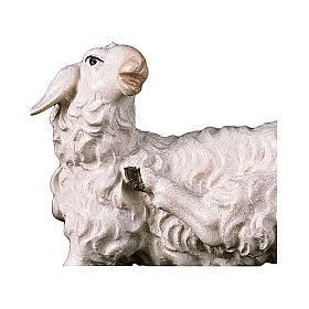 Pecora che si gratta presepe Original legno dipinto Valgardena 10 cm s2