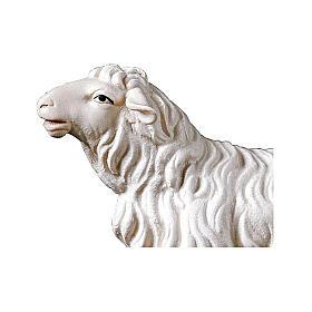 Pecora che guarda avanti presepe Original legno dipinto Valgardena 10 cm s2