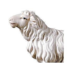Pecora che guarda avanti presepe Original legno dipinto Valgardena 12 cm s2