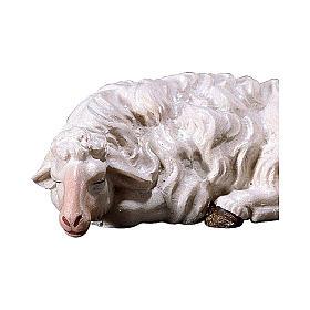 Pecora che dorme presepe Original legno dipinto Valgardena 10 cm s2