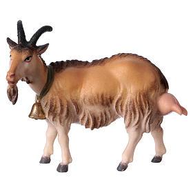 Belén Val Gardena: Cabra de ordeñar belén Original madera pintada Val Gardena 12 cm