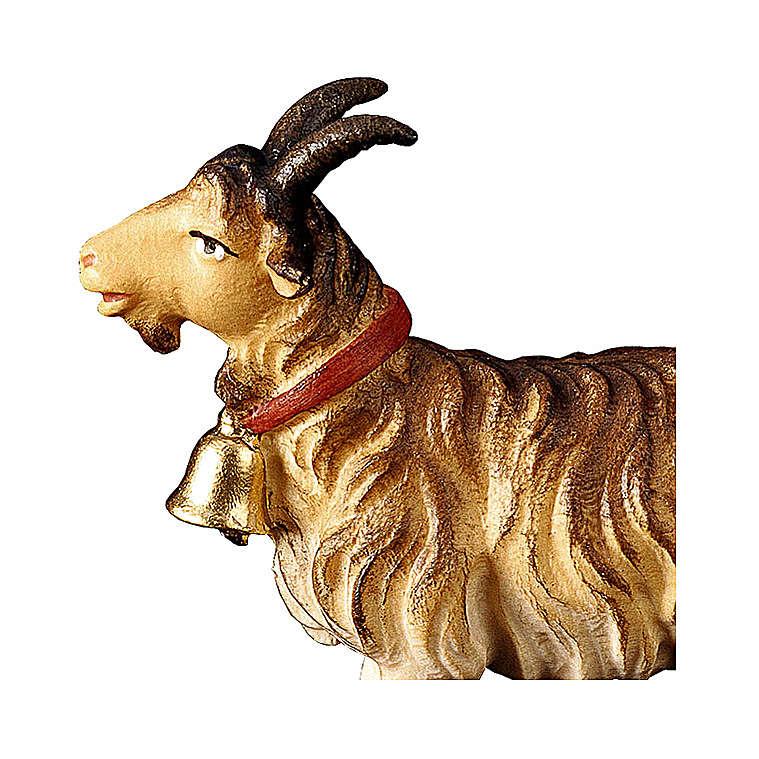 Capra con campanella presepe Original legno dipinto Valgardena 10 cm 4
