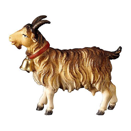 Capra con campanella presepe Original legno dipinto Valgardena 10 cm 1