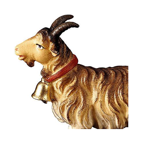 Capra con campanella presepe Original legno dipinto Valgardena 10 cm 2