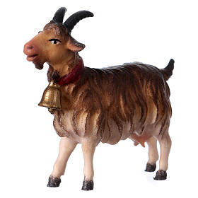 Belén Val Gardena: Cabra con campanilla belén Original madera pintada Val Gardena 12 cm de altura media