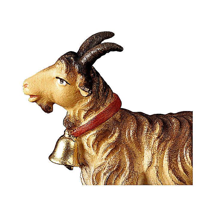 Capra con campanella presepe Original legno dipinto Valgardena 12 cm 4