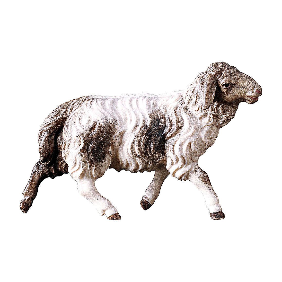 Pecora macchiata che corre presepe Original legno dipinto Valgardena 10 cm 4
