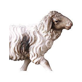 Pecora macchiata che corre presepe Original legno dipinto Valgardena 10 cm s2