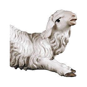 Agneau agenouillé crèche Original bois peint Val Gardena 10  cm s2