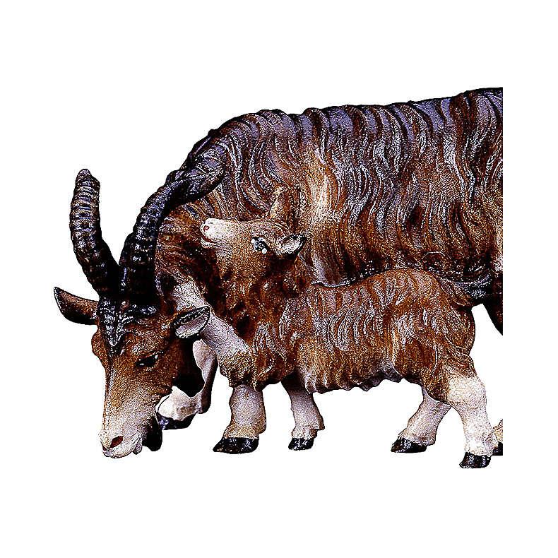 Capra con capretta presepe Original legno dipinto Valgardena 12 cm 4
