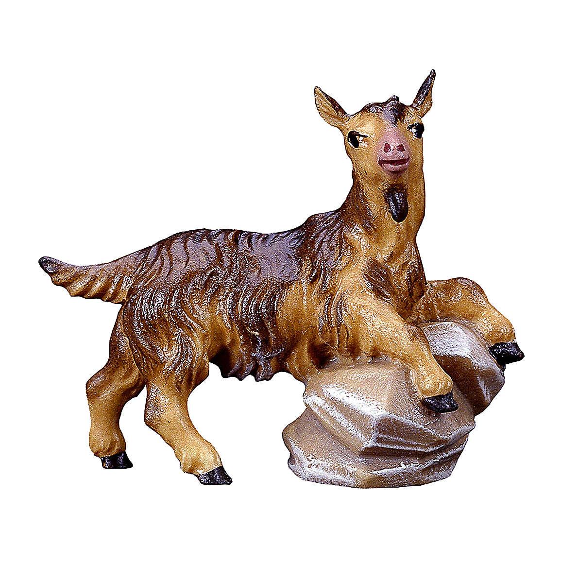Capretto su pietra presepe Original legno dipinto Valgardena 12 cm 4