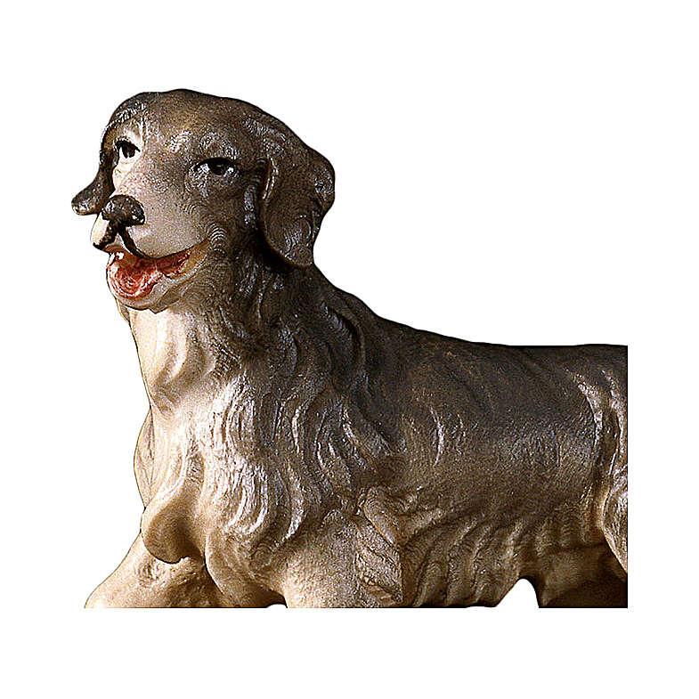 Cane da pascolo presepe Original legno dipinto Valgardena 10 cm 4