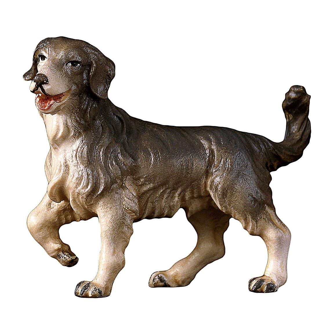 Cane da pascolo presepe Original legno dipinto Valgardena 12 cm 4
