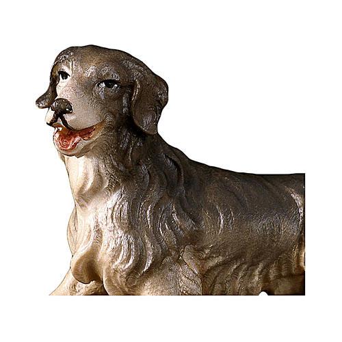 Cane da pascolo presepe Original legno dipinto Valgardena 12 cm 2