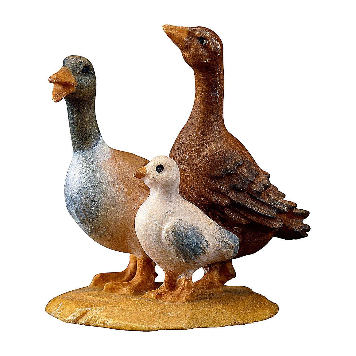 Gruppo d'oche presepe Original legno dipinto Valgardena 10 cm 4