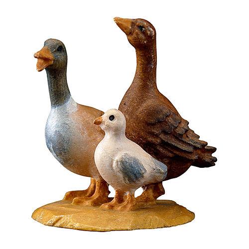 Gruppo d'oche presepe Original legno dipinto Valgardena 10 cm 1