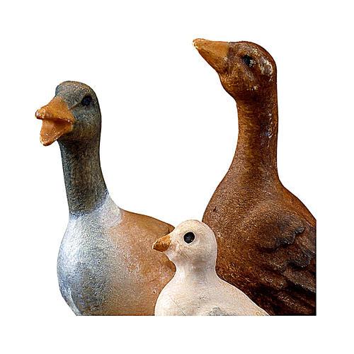 Gruppo d'oche presepe Original legno dipinto Valgardena 10 cm 2