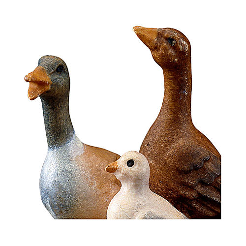 Gruppo d'oche presepe Original legno dipinto Valgardena 12 cm 2