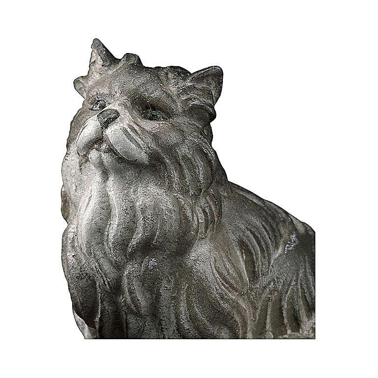 Gatto seduto presepe Original legno dipinto Valgardena 10 cm 4