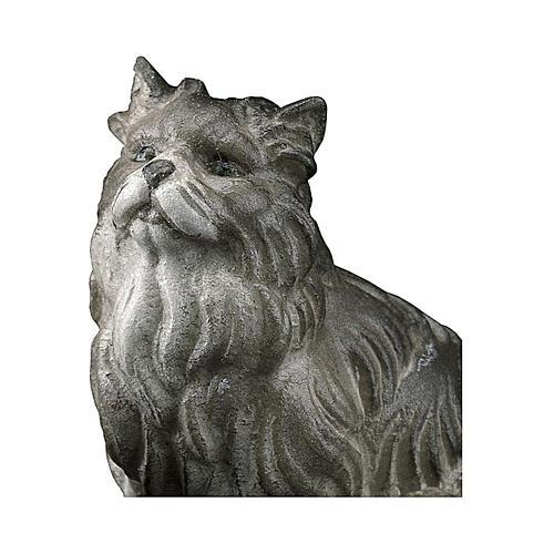 Gatto seduto presepe Original legno dipinto Valgardena 10 cm 2