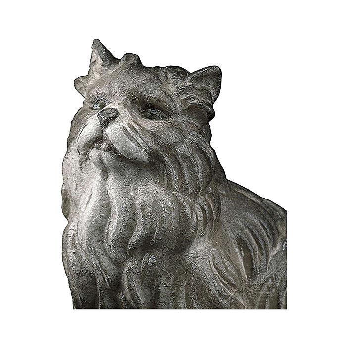 Gatto seduto presepe Original legno dipinto Valgardena 12 cm 4