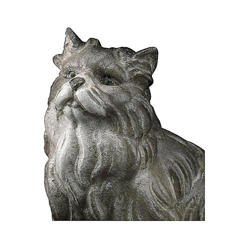 Gatto seduto presepe Original legno dipinto Valgardena 12 cm 2