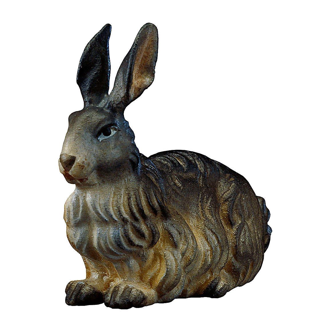 Coniglio presepe Original legno dipinto Valgardena 12 cm 4
