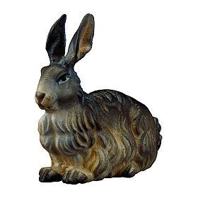 Coniglio presepe Original legno dipinto Valgardena 12 cm s1