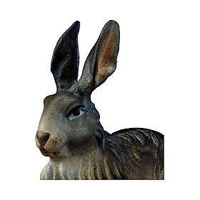 Coniglio presepe Original legno dipinto Valgardena 12 cm s2