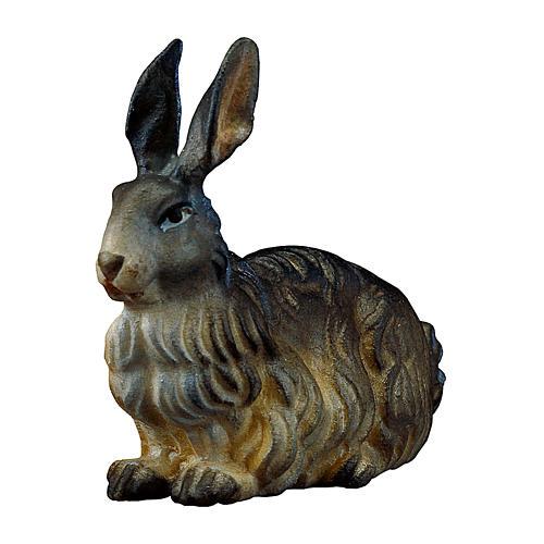 Coniglio presepe Original legno dipinto Valgardena 12 cm 1