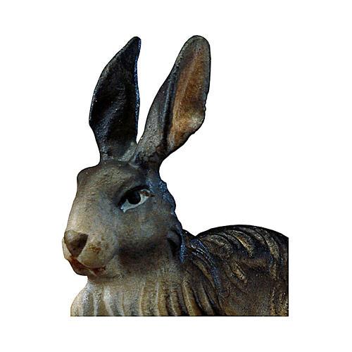 Coniglio presepe Original legno dipinto Valgardena 12 cm 2