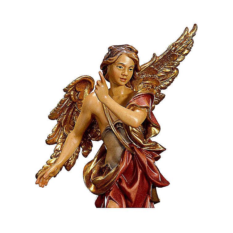 Angelo Annunciatore presepe Original legno dipinto Valgardena 12 cm 4