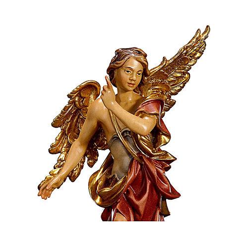 Angelo Annunciatore presepe Original legno dipinto Valgardena 12 cm 2