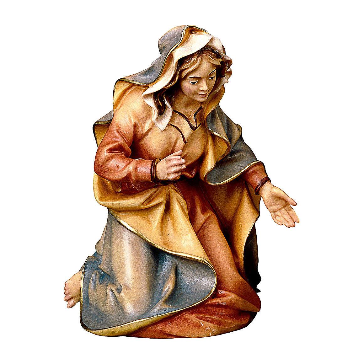 Santa Maria presepe Original legno dipinto Valgardena 10 cm 4