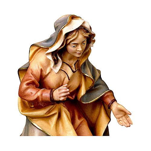 Santa Maria presepe Original legno dipinto Valgardena 10 cm 2