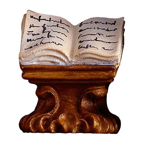 Libro su mensola presepe Original legno dipinto Valgardena 10 cm 1