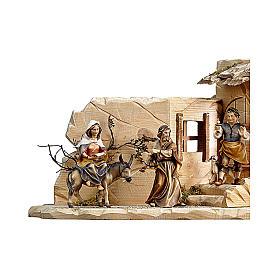 Scena cerca alloggio presepe Original legno dipinto Valgardena 10 (44x21x21) cm s2