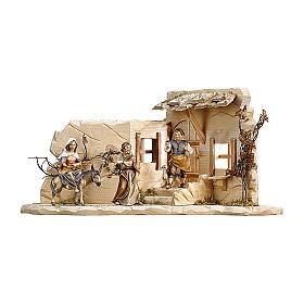 Scena cerca alloggio presepe Original legno dipinto Valgardena 12 (48x23x23) cm s1