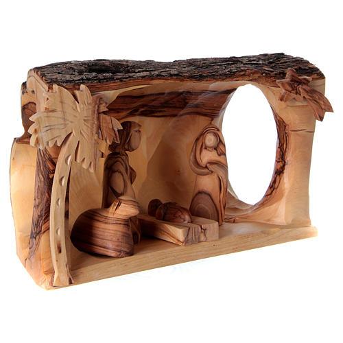 Olive wood Nativity Scene with shack 10x20x10 cm, Bethlehem 4
