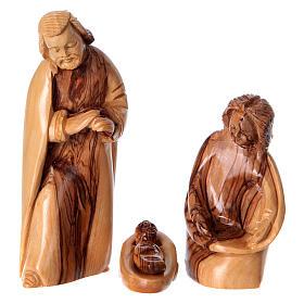 Natività in nicchia ulivo di Betlemme 25x10x15 cm modelli assortiti s4